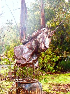 metal sculpture by owner