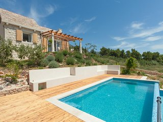 Villa Sunny Bol with pool by the sea and beach Zlatni Rat in Bol on Brac