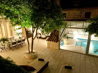 Luxury Villa Hvar with pool by the sea in center of Hvar on island of Hvar