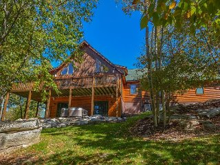 Lake Access Log Home with Media Room, Pool Table, Air Hockey & More!