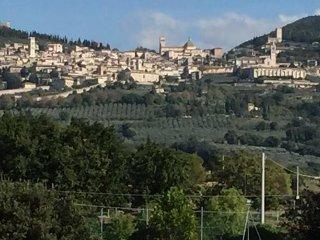 Assisi vista dal balcone di Suite Teatro