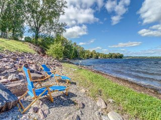 Lakefront property with easy dock access, incredible views & private hot tub