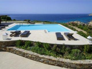 Villa Elia View holiday vacation large villa rental greece, mykonos, elia, elia