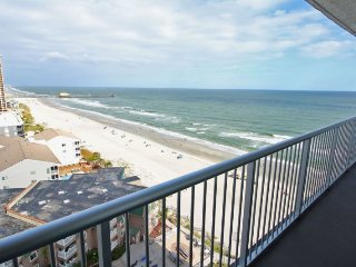Awesome Condo with Ex-large balcony and 10 mile view down the beach. 1423