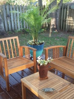 additional seating on the back deck