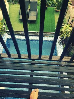 Balcony above Pool