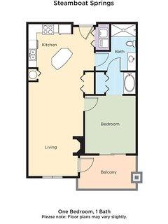 Wyndham Vacation Resorts Steamboat Springs floor plan