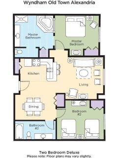 Wyndham Old Town Alexandria floor plan