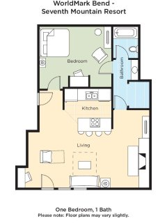 WorldMark Bend Seventh Mountain Resort floor plan