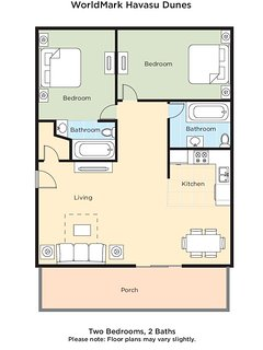 Havasu Dunes Resort floor plan