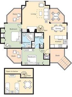 Wyndham Resort at Fairfield Bay floor plan