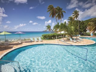 St. Thomas Studio Suite w/ Private Beach, Ocean Views, Resort Pool & WiFi
