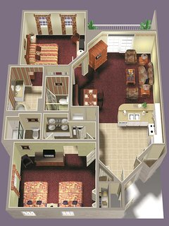 Wyndham Ocean Walk floor plan