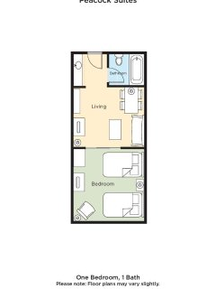 Peacock Suites floor plan