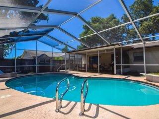Florida pool house near Gulf beaches