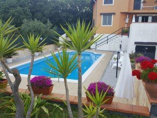 Villa with pool and garden, beautiful views of Mount Etna and the Ionian sea