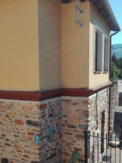 Parte de la fachada que da al patio