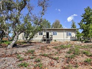 NEW! 2BR Escondido Home on 6-Acre Vineyard Estate!