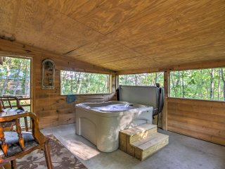 NEW! 1BR Sevierville Cabin w/ Hot Tub & Fire Pit!