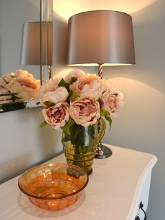 Flowers in the Blush Room