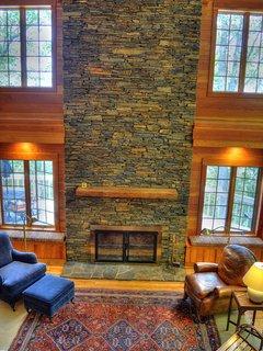 Stunning Wood Burning Fireplace