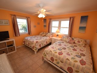 Beach front renovated house with game room and hot tub
