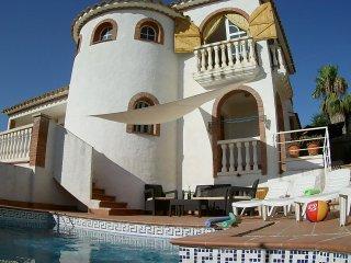 Sea View Pool Ibiza villa in Sitges. Barcelona.