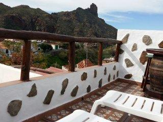 Hermosa terraza con vistas al Bentayga