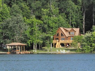 Rustic yet Refined Lake Anna Waterfront Log Home