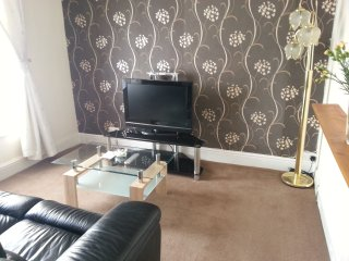 Nice size 1 bed flat in Swansea, very well equipped for longer stays.