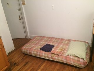 Airbed resting area in kitchen/living room