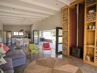 Lounge with outdoor/indoor living space