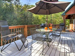 Enjoy views of the peaceful 4-acre lot backing up to Green Hills Preserve from the private deck.