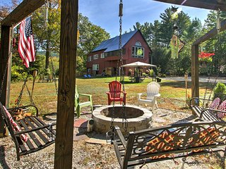 2BR North Conway House w/Loft on 4 Private Acres!