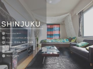 Awesome Location, Near apartment in Shinjuku! #1