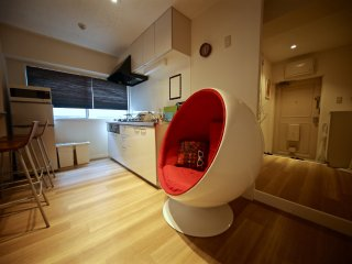 Akasaka luxury flat(50m2)! Transport hub! Free wifi!