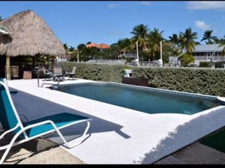 Waterfront Key Colony Beach Home with Private Back Yard Oasis Including Pool