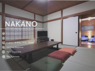 3 BEDROOMS/ 2 Storied House 4mins to Shinjuku B8