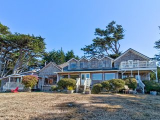 Historic estate w/ ocean views, fireplaces, a deck & porch - perfect for groups!
