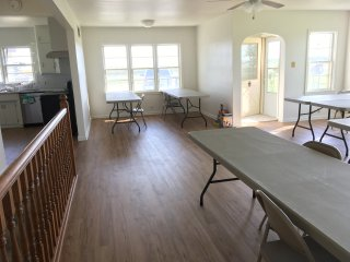 Larger Gathering Room.  Opens up to the Kitchen.