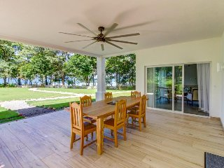 Dog-friendly, oceanfront escape w/shared pool, beach access at surf break