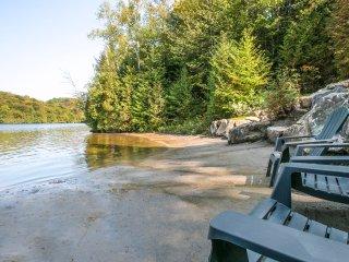 Chalet en bois rond avec accès au Lac Long (LE LOG HOME)