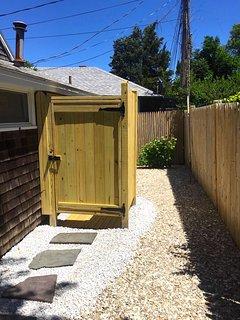 Brand new outdoor shower