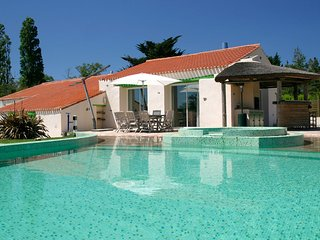 Le Domaine des Plantes - sleeps 8, private heated pool, near coast.