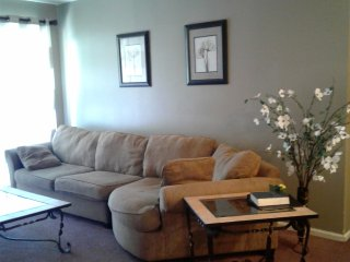 2 bedrooms, 2 bathrooms, end unit condo.