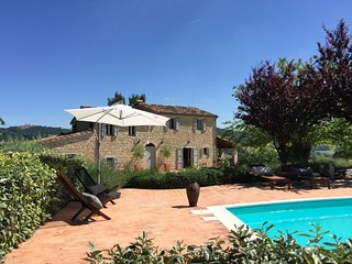 Casa Giuseppe Sarnano a luxury farmhouse with pool set in stunning countryside.