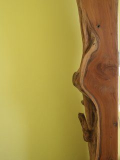 Yew wood in the king size bed post