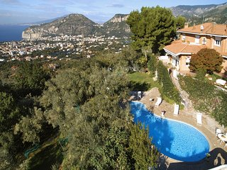 Villa Auxilia, apartment with panoramic view of the bay of Naples, shared pool