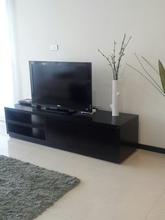 tv at the living room with cable system and DVD