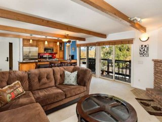 Balcony with Snowmass Mountain views. Great summer rates up to 20% off. Pool/hot